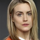 "Taylor Schilling in the Netflix series ""Orange Is the New Black."""