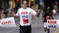 GNC Holdings' profit surge helped place it among to top five companies based on growth. As a maker of vitamins and supplements, it sponsors the GNC Live Well Liberty Mile race; last year's event started in the in the Strip District and ended Downtown, with Eric Rauterkus of the South Side winning the recreational mile.