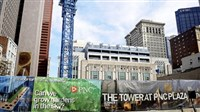 The new Tower at PNC Plaza building under construction on Wood Street, Downtown.  The new tower will be one of the largest green buildings in the country.