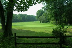 Hole 13, a par 4 at Indian Lake Golf Club in Somerset County. It has the first course designed by Arnold Palmer.