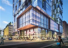 Artist's rendering of luxury condos at Ninth and Penn avenues downtown proposed by The Davis Companies of Boston.