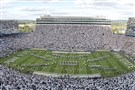 Beaver Stadium held a record-breaking 109,898 fans during the Pitt-Penn State game on Saturday, Sept. 9, 2017 at Beaver Stadium.
