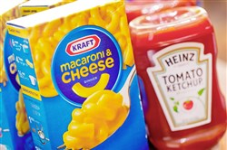 Kraft Heinz Co. products shown on March 25, 2015