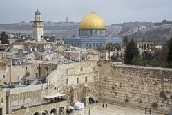 A view of the Western Wall and the Dome of the Rock, some of the holiest sites for for Jews and Muslims, is seen in Jerusalem's Old City, Wednesday, Dec. 6, 2017.