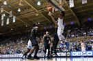 Duke's Marvin Bagley III drives to the basket against the Panthers Saturday, Jan. 20, 2018, at Cameron Indoor Stadium in Durham, N.C.