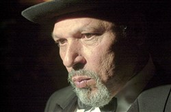 "August Wilson after the opening of his play ""King Hedley II"" on Broadway in 2001."