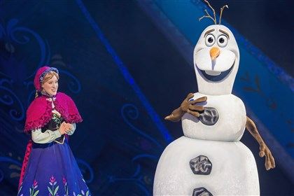"Disney on Ice: Reach for the Stars features scenes from ""Frozen."""