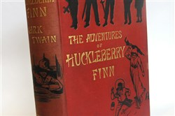"A first edition of ""Huckleberry Finn"" at Caliban Books on Craig Street in Oakland."