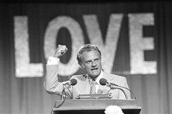 The Rev. Billy Graham speaks in Dallas on the closing night of the 1974 Southern Baptist Convention.