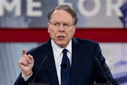 The National Rifle Association's Executive Vice President and CEO Wayne LaPierre speaks during the 2018 Conservative Political Action Conference at National Harbor in Oxen Hill, Md., on Thursday.