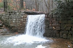Another view of the waterfall on Henry Run. the NCT-Baker trails route passes close by.