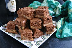 Made with Guinness Stout, Black and Tan Brownies are an ideal St. Patrick's Day dessert.