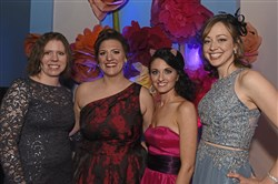 Kelly Hughes, left, Becki Campanaro, Jessica Netzloff and Dr. Alison Sehgal.