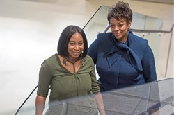 "Amanda Wilson and Janis Burley Wilson at  ""Art After Dark."" on Thursday at the August Wilson Center, Downtown."
