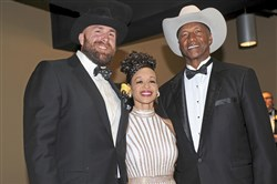 Brett Keisel, left, with TiAnda and Mel Blount at the Mel Blount Youth Home 20th annual All-Star Celebrity Roast.