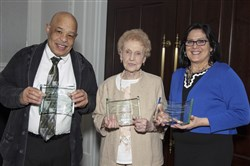 Fully Invested awardees, from left, Arthur Blackwell, Dolores Jurges and Barbara  Campbell.