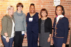 Jeremiah's Place:  From left, Eileen Sharbaugh, Dr. Lynne Williams, Lisa J. Perry, Linda Krynski and Pam Golden