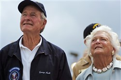 Former U.S. President George H. W. Bush and former first lady Barbara Bush.
