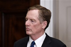 U.S. Trade Representative Robert Lighthizer attends a signing ceremony of the Section 232 Proclamations on Steel and Aluminum Imports at the White House Thursday, March 8, 2018 in Washington, D.C.