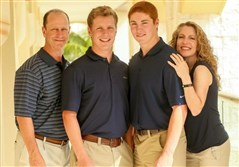 The Piazza family. Tim Piazza, second from right, was killed at Penn State in a hazing incident at a fraternity party on campus.