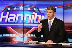 Sean Hannity on Fox News, where the Trump-Russia story is all about Deep State partisans trying to destroy the president.