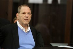 Harvey Weinstein attends his arraignment at the Manhattan Criminal Court on Friday, May 25, 2018 in New York.