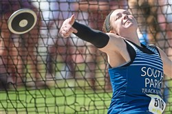 South Park's Maura Huwalt won a PIAA title in the Class 2A discus at Shippensburg University.