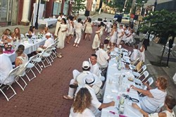 Diners need to dress in white for the outdoor Blanc en Plum dinner that will be held in Elizabeth on Sunday.