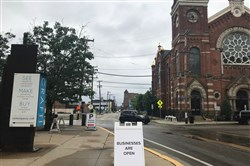 Pittsburgh Water and Sewer Authority and the City of Pittsburgh are working with businesses to stave off a downturn during construction on Smallman Street in the Strip District, on track to last at least through mid-2019.