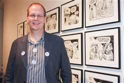 Rob Rogers during Cartoon Factory at the Warhol Museum, Oct. 31, 2008.