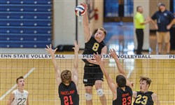 North Allegheny's Canyon Tuman had 16 kills in the PIAA Class 3A championship against Landisville Hempfield.