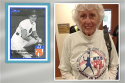 "Shirley Burkovich, a Swissvale native, played three years in the All-American Girls Professional Baseball League, a career she had hoped would last forever. During her playing days, Ms. Berkovich earned the nickname ""Hustle"" because of her all-out play. In the movie ""A League of their Own,"" Ms. Burkovich  Ms. Burkovich played the older version of a fictional character named Alice ""Skeeter"" Gaspers."