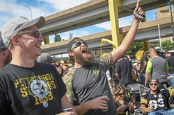 Tailgaters at a North Shore parking lot before a Steelers' home game in September.