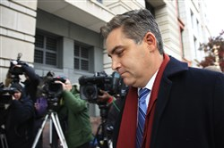In this Nov. 14, 2018, photo, CNN's Jim Acosta walks into federal court in Washington, to attend a hearing on a legal challenge against President Donald Trump's administration.