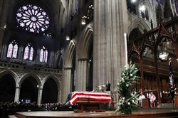 Former President George H.W. Bush is eulogized at Washington National Cathedral.