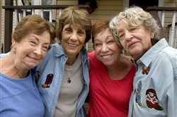 From left: Kathleen Casey Borgo of Hampton, Emily Domina Sansone of Florida, Maureen Doran Fremer of Crafton and Anna Marie Frediani D'Alo of Mt. Lebanon have remained close for 68 years.