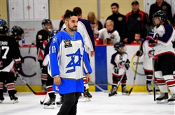"At the first USA Hockey Special Hockey Classic in Cranberry in November, Shai Maaravi wore a Pittsburgh Penguins Foundation ""Stronger Than Hate"" patch on the jersey from his Israeli national hockey team. Mr. Maaravi, who also plays for the Duquesne University hockey team and belongs to Tree of Life congregation, will be part of the Hockey is Stronger Than Hate weekend on Jan. 26--27.   Credit: Hockey Sticks Together Foundation"
