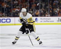 Pittsburgh Penguins' Evgeni Malkin in action during an NHL hockey game against the Philadelphia Flyers, Monday, Feb. 11, 2019, in Philadelphia.