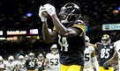 Sammie Coates pulls in a pass for a touchdown against the Saints in the second quarter at the Mercedes-Benz Superdome in New Orleans, Friday, Aug. 26, 2016.