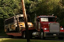 A school bus driver died Friday in North Sewickley after his vehicle hit a utility pole near the intersection of Foster Road and Mercer Road.