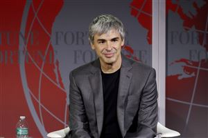 In this Nov. 2, 2015, file photo, Alphabet CEO Larry Page speaks at the Fortune Global Forum in San Francisco.