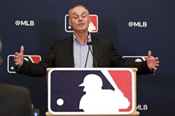 MLB commissioner Rob Manfred is looking for a way to play as many games as possible in 2020. (Associated Press)