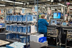 Royal Philips has increased production of life-saving ventilators at its Murrysville Respironics facility and its Carlsbad, Calif. site.